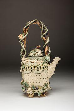 Claire Prenton Ceramics, 2015 , porcelain. Bramble Teapot.