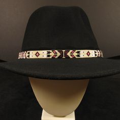 1f6bcdc29fc Beaded slide adjustment in the back. Item Size  Hex Beads Tribe  Navajo  Size  40 x. Native American ...