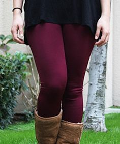 Love this Caralase Purple Fleece-Lined High-Waist Leggings by Caralase on #zulily! #zulilyfinds