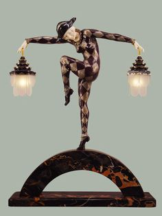 Art Deco Harlequin lamp