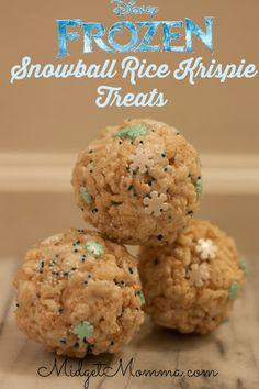 Disney Frozen Inspired Snowball Rice Krispie Treat Recipe on Yummly. @yummly #recipe