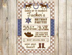 Cowboy Birthday Invitation by EmmyJosParties on Etsy, $13.00