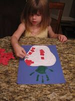 Here is another apple craft that allows me to use a hand print. I love hand print crafts. You will need: Paper, green paint, brush, . Art For Kids, Crafts For Kids, Arts And Crafts, Kid Art, Fall Preschool Activities, Preschool Crafts, September Crafts, September 2014, Apple Unit