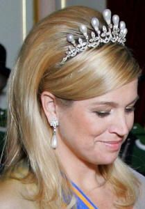 Antique Pearl Tiara worn by HRH Princess Maxima of the Netherlands