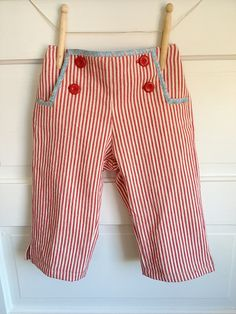 Oliver and S Sailboat Pants with bias trim