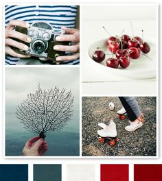 red, white and blue color scheme