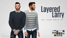 "lumialoversims: "" Fall's here and what better way to dress casual-formal than to layer? 16 colour combos. Has a custom thumbnail. Feel free to make recolours. Enjoy~ Download - OneDrive / SimFileShare If you like my custom content, you are welcome..."