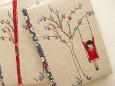 cherry on the tree swing quilt journals