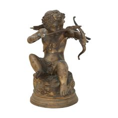 Buy it now: ANTIQUE FRENCH BRASS CUPID SCULPTURE #Layer