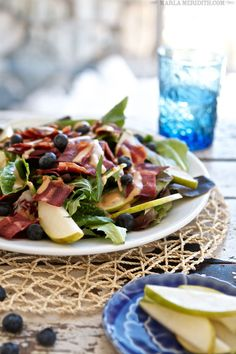 Bacon, Pear & Blueberry Salad... lovely for spring