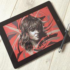 "Portrait ""Florence & the Machine"" Adobe Draw & Adobe Sketch on Ipad - Wacom bamboo Stylus #art #adobe #adobedraw #music #portrait #florenceandthemachine #ipad #drawing #digitalart"