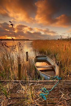 Old Boat, Strumpshaw Fen, Norfolk, England by Ian Flindt