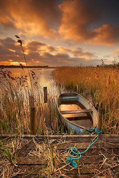 Old Boat, Strumpshaw Fen, Norfolk, England by Ian Flindt
