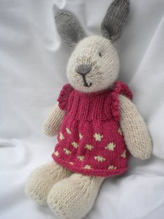 adorable little knit bunny with dress