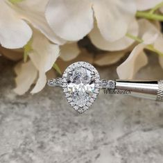 2.5 CT Round Moissanite Halo Engagement Ring Near White 10kt Solid White Gold Fn