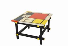 Gerrit Rietveld Piet Mondrian De Stijl painted coffee sofa lamp tables ...