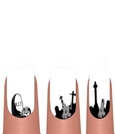 The Graveyard Halloween nail art transfer decals by alterNAILtive ADHW021 alterNAILtive http://www.amazon.com/dp/B00MZ62G4K/ref=cm_sw_r_pi_dp_JBLaub0GGZZCD