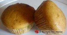 Muffins γιαουρτιού γεμιστά με μαρμελάδα #sintagespareas