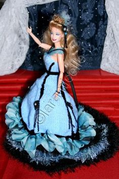 tuto gratuit barbie : robe longue guêpière de fête