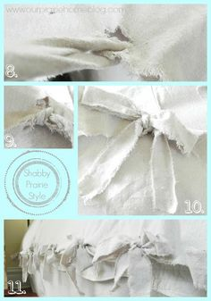 duvet cover from drop cloths.NO sewing! use this idea for couch pillows too! Sewing Crafts, Sewing Projects, Diy Projects, Sewing Diy, Sewing Hacks, Sewing Ideas, Duvet Cover Tutorial, Painters Cloth, Drop Cloth Projects