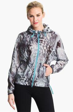 Contrast zipper Zella Sprint Print Jacket available at #Nordstrom
