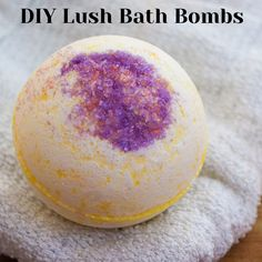 Learn how to make this Lush Bath Bomb Recipe using all natural ingredients! These giant, luxurious bath bombs are great to use or gift!