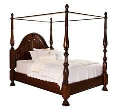 Amish Melbourne Canopy Bed Luxurious and comforting, the Melbourne is one exquisite canopy bed. Select wood and finish and Amish craftsmen build your dream bed. Rustic Bedroom Furniture, Contemporary Bedroom Furniture, Amish Furniture, Classic Furniture, Fine Furniture, Furniture Styles, Bedroom Decor, Bedroom Ideas, Furniture Ideas
