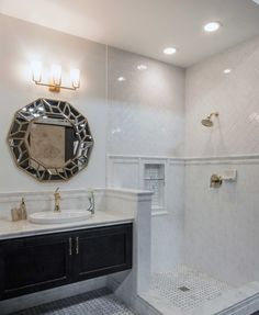 Traditional And Modern Look With Classic Bathroom Tile Carrara - Carrara gris porcelain tile