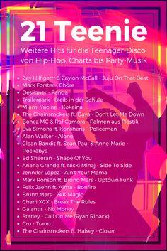 21 weitere Lieder für die Teenager-Disco, von Hip-Hop, Charts bis Party #JujuOnThatBeat #Desiigner # PalmenAusPlastik