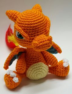 Hey everyone!It's been a while since I've made a Pokemon. I really enjoyed making this guy and I love how he turned out!I'm planning on making the other starter Pokemon as well and ma. Amigurumi Giraffe, Amigurumi Doll, Amigurumi Patterns, Crochet Patterns, Pokemon Crochet Pattern, Pikachu Crochet, Crochet Crafts, Crochet Dolls, Knit Crochet