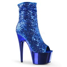 Pleaser ADORE-1008SQ Blue Sequin 7