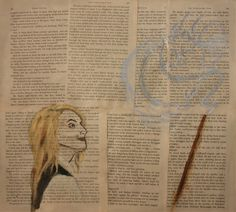 Evanna Lynch (Luna Lovegood) living on the pages of Harry Potter...