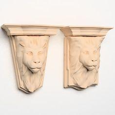 Lion Head Corbels 3D Model - 3D Model