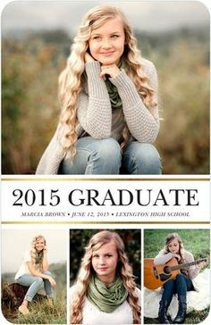 Graceful Stripes - Graduation Announcements in Black or Navy | Magnolia Press
