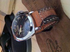 Leather handmade 26mm watch strap custom Marina Militare