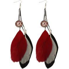 I would actually wear these :) McElhinney Johnson College Football, Feather Earrings, Drop Earrings, University Of Alabama, Alabama Crimson Tide, Roll Tide, 4 Life, Fan, Gifts
