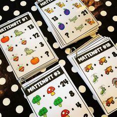 Har dine elever fått testet seg på Mattenøttene?🤗 Her får vi trent på alle de fire regneartene på en morsom og utfordrende måte!🙌 Å ha dagens mattenøtt har blitt veldig populær på flere skoler og det er så gøy å få så gode tilbakemeldinger fra elever🤩 Playing Cards, Teaching, Instagram, Playing Card Games, Education, Game Cards, Playing Card, Onderwijs, Learning