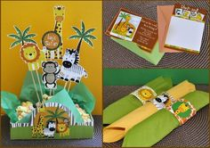 Safari printable party combo by kutzypartyboutique on Etsy, $30.00