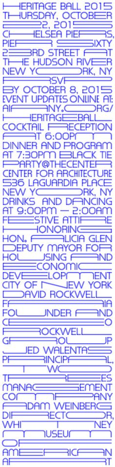 Like architecture in the city, the typography fills every available area.