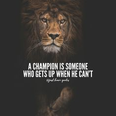 Be a champion for life. #justbravequotes #champion #lion #quotes #motivation #inspiration