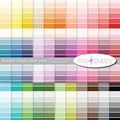 33 colors of Ombre stripes - digital scrapbook paper by MooandPuppy