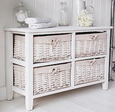 Basket Storage Drawers Bhg White Bathroom Furniture