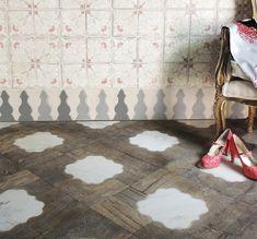 Micro Trend: Creative Floors Combining Wood and Ceramic Tile tabarka studio love