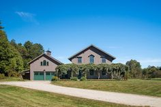 """For sale: $598,000. Formerly the Longwoods Alpaca Farm, the alpacas are gone but the charming reproduction of an 1840 """"Regular Bracketed Cottage"""" with 4 bedrooms and 3 baths remains along with a 1600sf barn, summer shelter, and containment fencing. Expansive views of woodlands and rolling pasture abutting the town forest. A meandering brook, grape covered pergola, and lovely gardens enhance a serenely private setting. Perfect for the small scale farmer within minutes to all the cult..."""