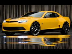 2014 Chevrolet Camaro Bumblebee Concept by Michael Bay @ Transformers 4 #chevroletcamaro #michaelbay #transformers4