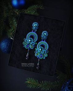 Soutache Earrings, Belly Button Rings, Brooch, Jewels, Earrings Handmade, Counting, Luxury, Christmas, Blue