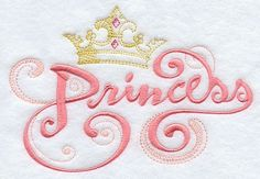 Embroideries offered on shirts, pillow cases, totes, just about anything.   Princess Embroidered Flour Sack Hand/Dish by EmbroideryEverywhere, $12.99