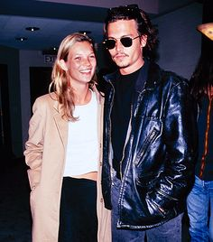 Throwback Thursday! Our favorite couple (tear) Kate Moss and Johnny Depp // #TT #styleicons