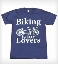 Biking Is For Lovers Navy T-Shirt | Women's Clothing | Dark Cycle Clothing | Scoutmob Shoppe | Product Detail