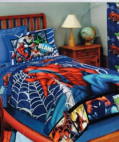 4pc Marvel Spiderman Full Sheet Set Spidey And Venom Double Trouble Bedding  Accessories    Learn More By Visiting The Image Link.Note:It Is Affiliau2026